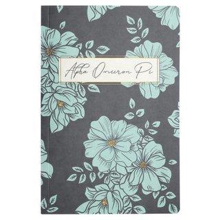 Alpha Omicron Pi Blue Floral Notebooks