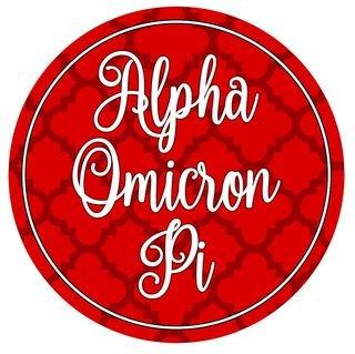 "Alpha Omicron Pi Bumper Stickers 4"" Round"