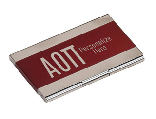 Alpha Omicron Pi Business Card Holder