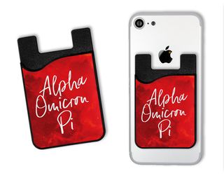 Alpha Omicron Pi Watercolor Caddy Phone Wallet