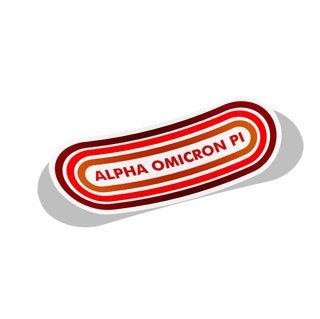 Alpha Omicron Pi Capsule Decal Sticker