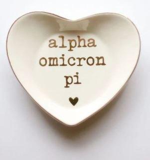 Alpha Omicron Pi Ceramic Ring Dish