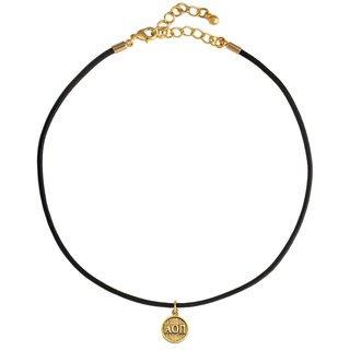 Alpha Omicron Pi Choker Necklace