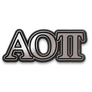 Alpha Omicron Pi Chrome Car Emblem!