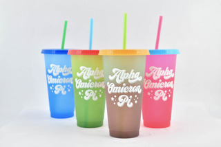 Alpha Omicron Pi Color Changing Cups (Set of 4)