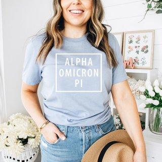 Alpha Omicron Pi Comfort Colors Box Tee