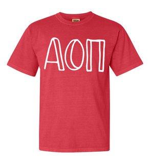 Alpha Omicron Pi Comfort Colors Heavyweight Design T-Shirt