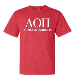 Alpha Omicron Pi Comfort Colors Heavyweight T-Shirt