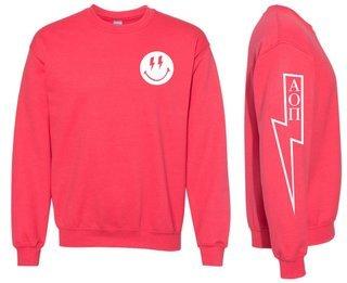 Alpha Omicron Pi Comfort Colors Lightning Crew Sweatshirt