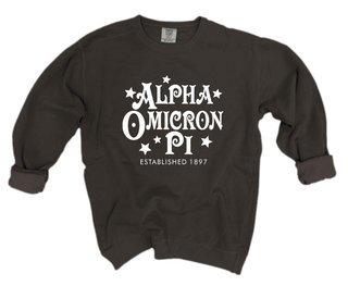 Alpha Omicron Pi Comfort Colors Old School Custom Crew