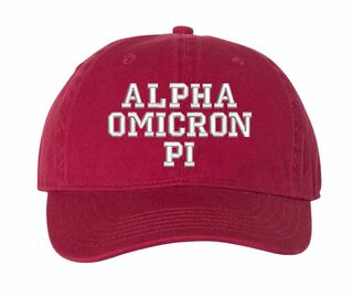 Alpha Omicron Pi Comfort Colors Pigment Dyed Baseball Cap