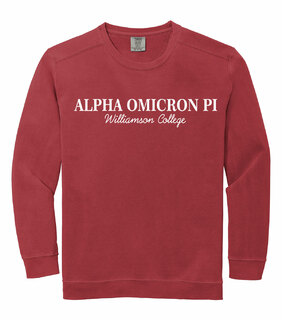 Alpha Omicron Pi Custom Comfort Colors Greek Crewneck Sweatshirt