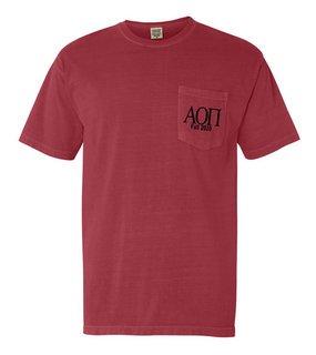 Alpha Omicron Pi Custom Comfort Colors Pocket Tee
