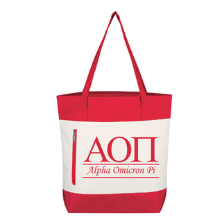 Alpha Omicron Pi New Game Day Tote