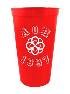 Alpha Omicron Pi Custom Greek Crest Est Stadium Cup