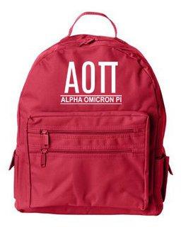 Alpha Omicron Pi Custom Text Backpack