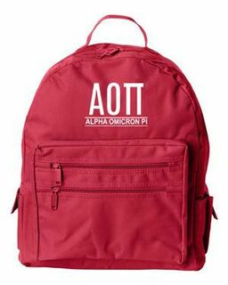 Alpha Omicron Pi Custom Text Backpack