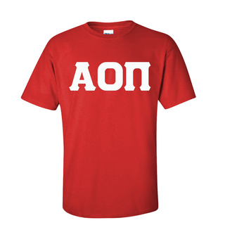 Alpha Omicron Pi Discount Twill Lettered Tee