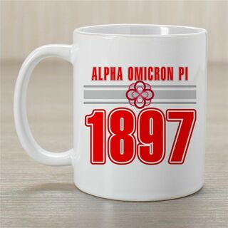 Alpha Omicron Pi Established Year Coffee Mug