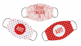 Alpha Omicron Pi Face Mask Trio Set
