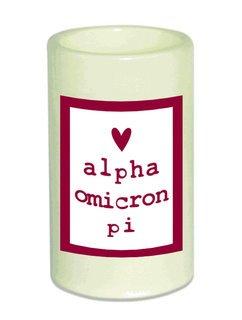 Alpha Omicron Pi Flameless Candle