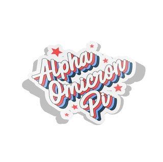 Alpha Omicron Pi Flashback Decal Sticker