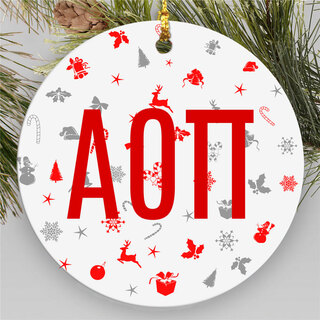 Alpha Omicron Pi Holiday Cheer Ornaments