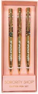 Alpha Omicron Pi Glitter Pens (Set of 3)