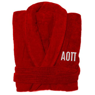 Alpha Omicron Pi Greek Letter Bathrobe
