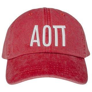 Alpha Omicron Pi Greek Letter Hat