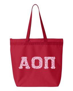 Alpha Omicron Pi Greek Letter Liberty Bag