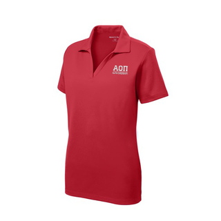 Alpha Omicron Pi Greek Letter Polo Shirts