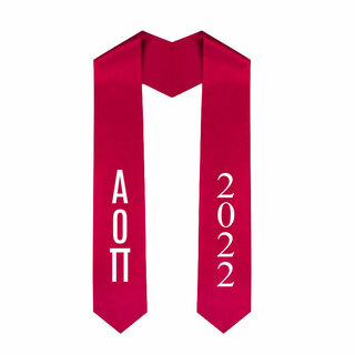 Alpha Omicron Pi Greek Lettered Graduation Sash Stole With Year - Best Value