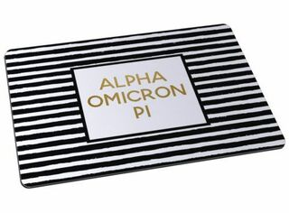 Alpha Omicron Pi Striped Mousepads