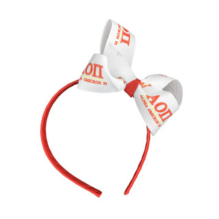 Alpha Omicron Pi Headband with Bow