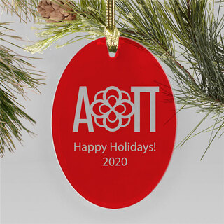 Alpha Omicron Pi Holiday Color Mascot Christmas Ornament