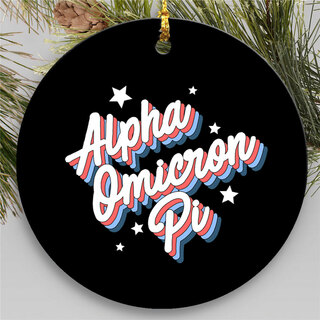 Alpha Omicron Pi Holiday Flashback Ornaments