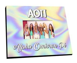Alpha Omicron Pi Holla Picture Frame