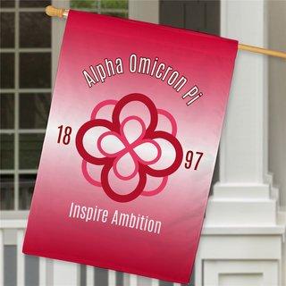 Alpha Omicron Pi House Flag