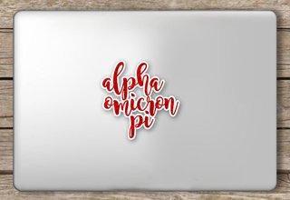 Alpha Omicron Pi Script Sticker
