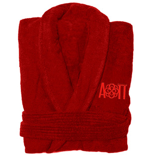 DISCOUNT-Alpha Omicron Pi Infinity Rose Bathrobe