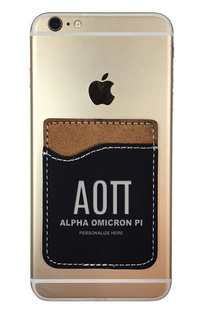 Alpha Omicron Pi Leatherette Phone Wallet