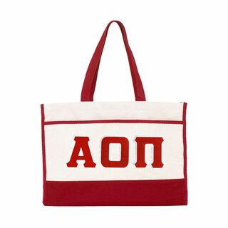 DISCOUNT-Alpha Omicron Pi Lettered Contemporary Tote