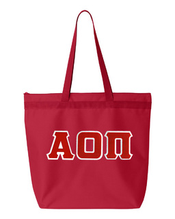 DISCOUNT-Alpha Omicron Pi Lettered Game Day Tote