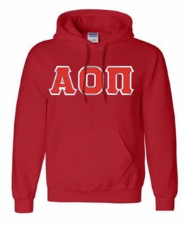 Alpha Omicron Pi Lettered Greek Hoodie- MADE FAST!