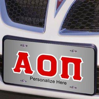 Alpha Omicron Pi Lettered License Cover