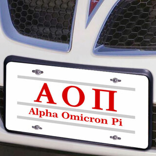 Alpha Omicron Pi Lettered Lines License Cover