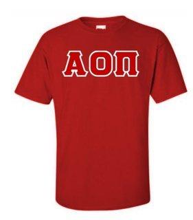 Alpha Omicron Pi Sewn Lettered Shirts