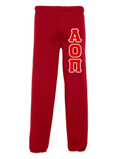 Alpha Omicron Pi Lettered Sweatpants