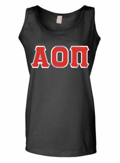DISCOUNT-Alpha Omicron Pi Lettered Ladies Tank Top